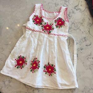 Handmade embroidered Mexican sun dress